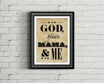 FLORIDA GEORGIA LINE Inspired Poster Print | 11x14 | Country Music Poster | Typography