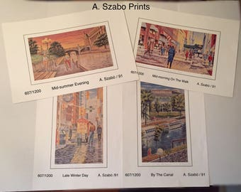 A. Szabó Hungarian Artist Prints - 4 in this collection to choose from