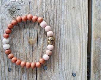 Essential oil diffuser bracelet yoga bracelet mala beads meditation bracelet  yoga jewelry rose quartz lava beads rosewood