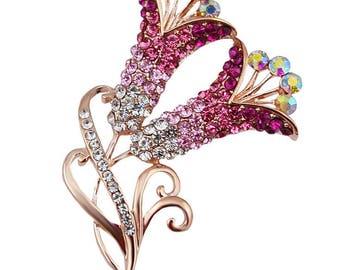 Beautiful Calla Flower Brooch Pin Fashion 2018