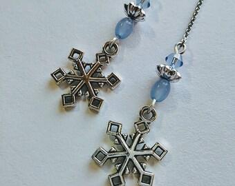 Snowflake Threader Earrings