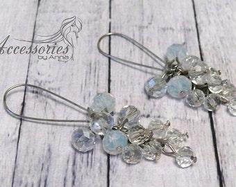 Swarovski Crystal Jewelry White Earrings Wedding Jewelry Bridal earrings Holiday jewelry Crystal jewelry Bride Summer earrings Bridal