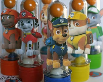 Paw Patrol Birthday Candy Tube Party Favors - Set of 12