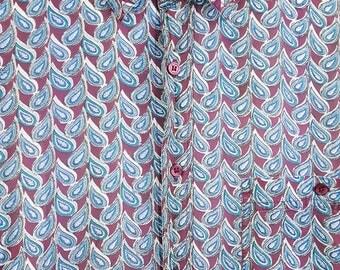 Paisley Shirt Men's Long Sleeve Vintage 90s Hip Hop Boy Band