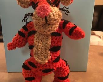 TIGGER Winnie The Pooh Crochet Doll FREE SHIPPING
