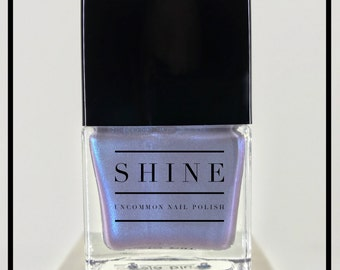 "Nail Polish - ""DejaBlue"" - Iridescent Holographic Blue Color Shifting 7 Free"