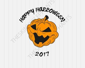 Happy Halloween Svg, jack o lantern Svg,  svg, dxf, eps, png, Pdf - Download - Cut File, Clipart - Cricut Explorer - Silhouette Cameo