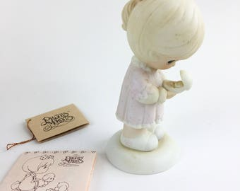 Vintage Precious Moments Always In His Care 1990 Commemorative Easter Seals Limited Edition Figurine 524522