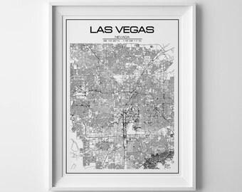 las vegas map, las vegas, city map, las vegas poster, las vegas print, las vegas art, map art, las vegas city map, las vegas nevada, map