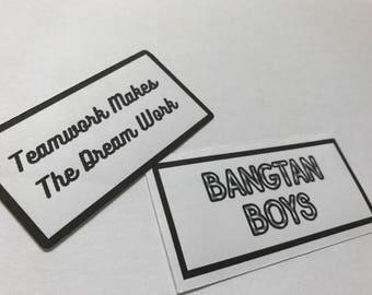 BTS Stickers | Random Set | 10% Off Code SOKPOP10