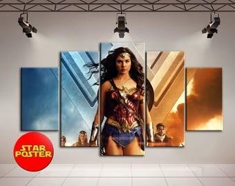 Wonder Woman, Wonder Woman art, DC comics art, Wonder Woman canvas, DC canvas, DC comics wall art, Wonder Woman print, Wonder, Woman