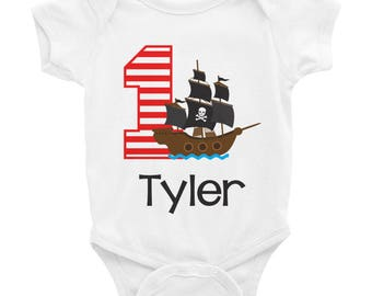 Pirate Birthday Shirt Onesie - Pirate Ship Birthday Shirt Onesie - 1st Birthday Shirt Onesie - First Birthday Shirt 1 - Boys Birthday
