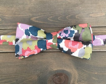 Mens Pre-Tied Watercolor Bow Tie - Mens Accessories