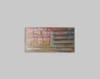Abstract Acrylic - Original Painting - Contemporary Art - American Flag