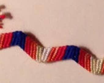 Zig Zag Pattern Friendship Bracelet