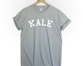 KALE tshirt shirt tee top vegan vegeterian fruit plants healthy plant based food animals rights cute funny tumblr mens womens graphic