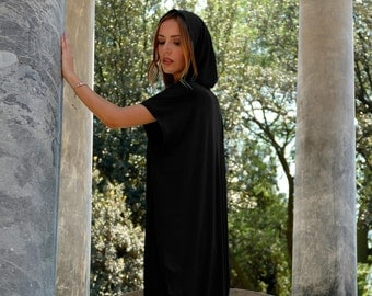Black Dress, Kaftan Dress, Long Oversize dress, Maxi Dress, Plus Size Dress, Summer Dress, Long sleeve dress, Maternity dress, Casual dress