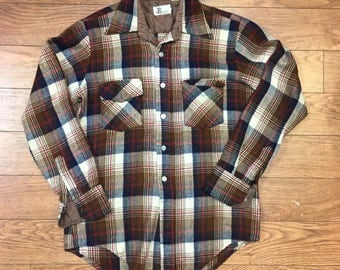 Vintage Flannel Button Down Shirt