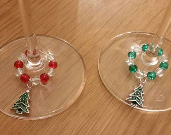 Personalised Christmas Tree Decorations and Wine Glass Charms - perfect to decorate your home or as gifts and presents Secret Santa