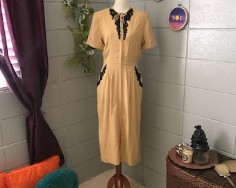 Manford Casuals 1940's Pocket Vintage Dress