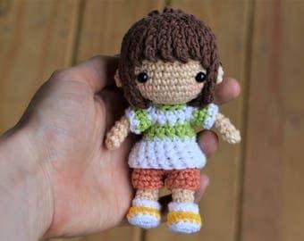 Chihiro Amigurumi Crochet Pattern / Photo Tutorial / Spirited Away Inspired Amigurumi Crochet Pattern
