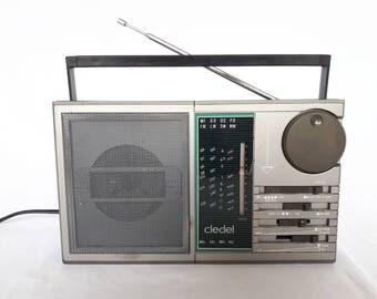 Radio radio CLEDEL 80's grey vintage