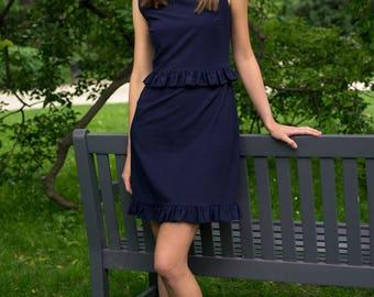 CORPO navy blue sleeveless