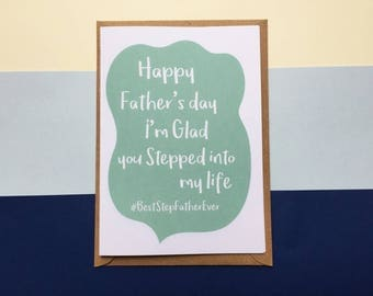 Funny Father's Day Card - Card for Stepfather- Stepfather cards - Stepfather Birthday cards - Stepfather cards fathers day - StepFather card