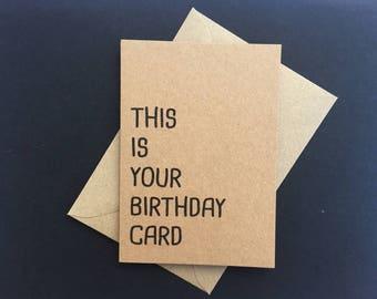 Funny Birthday Card, Happy Birthday Card, Wife Birthday card, Colleague Birthday card, sister Birthday cards , Birthday Boyfriend card,