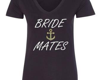 Nautical Bridesmaid T-shirt Bride Mates with Anchor