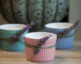 Relaxing Lavender Candle - 100% Soy Wax with Essential Oil