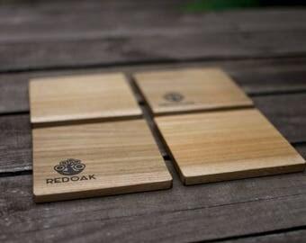 Solid hardwood coasters (set of 4)