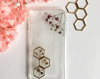 Chic phone case, Floral phone case, Dried flower case, iPhone case, Samsung Galaxy case, Huawei Case, LG Case, Sony Xperia case, Lenovo case
