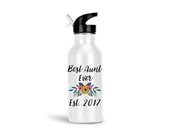 Best Aunt Ever Water Bottle, Aunt Water Bottle, BAE Best Aunt Ever, Gifts for Aunts, Aunt Gift, Stainless Steel Water Bottle 20 oz