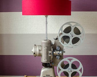 Upcycled Bell & Howell 606H Projector Lamp - Upcycled Projector Lamp - Upcycled Projector