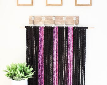 Yarn and Rod Wall Hanging (Large)