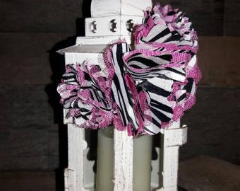 Pink, Black and White Zebra Print Elastic Headband