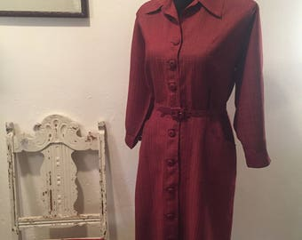 Rust Colored Vintage Dress