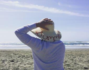 Sun Hat - Macrame Embellishments