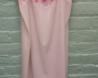 Vintage Hand dyed Dress Slip Lingerie Undergarment