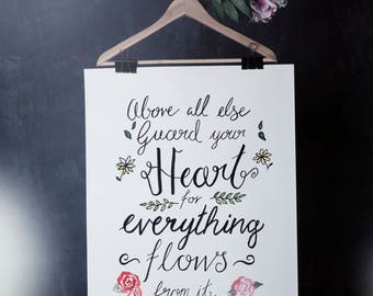 Guard Your Heart - A4 Print