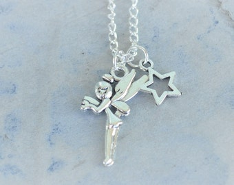 Fairy Charm Necklace - 20 inch chain - ready to ship