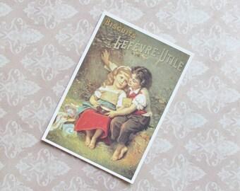 Unwritten postcard, Biscuits Lefèvre-Utile