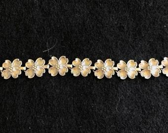 Vintage Dogwood Flower Bracelet by BEAU