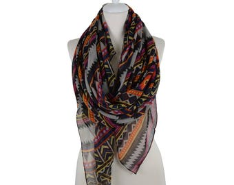 Aztec Scarf Scarf Trial Scarf Shawl Scarf Spring Summer Women Fashion Accessories Spring Celebrations Trend Gift Ideas For Her