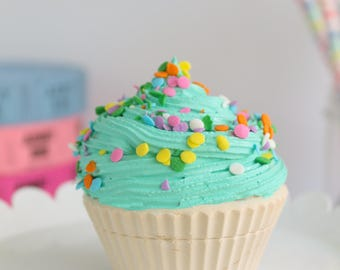 Partial Sprinkle Cupcake- Fake cupcake, prop cupcake, party decor