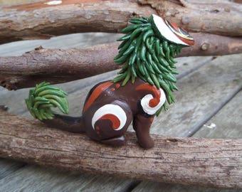 Forest Spirit Polymer Clay Sculpture Creature