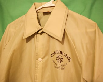 70S/80s Castaways Hotel Coaches Jacket Casino Las Vegas S/M Fit