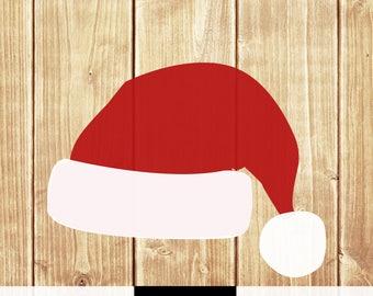 Santa hat SVG PNG boy girl shirt print Santa hat merry christmas vintage winter holiday silhouette cricut cut file digital download svg png