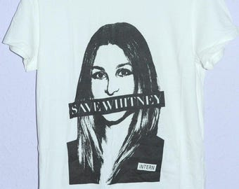 Christopher Lee Sauve *SAVE WHITNEY* t shirt / Anna Wintour MTV The City The Hills Whitney Port Vogue Hipster